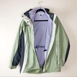 Columbia Green Core Interchange Jacket + Fleece